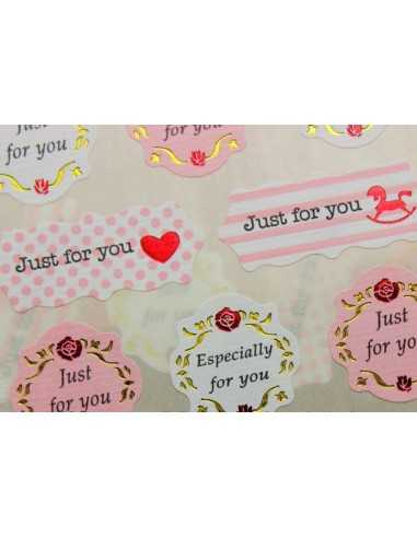 STICKERS ADESIVI  JUST FOR YOU CLASSIC (20PZ)