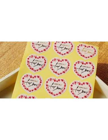 STICKERS ADESIVI EXPECIALLY FOR YOU LOVE (10PZ)