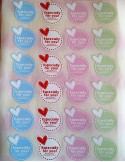 STICKERS ADESIVI JUST FOR YOU LOVE (24PZ)