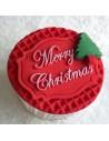 STAMPO SILICONE TARGA MERRY CHRISTMAS BY KATY SUE