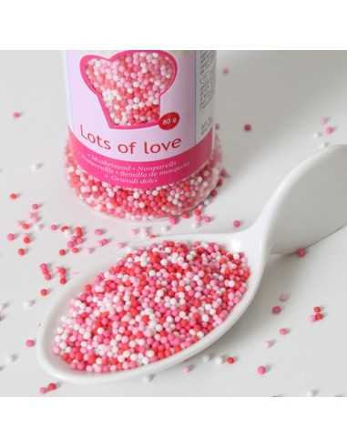 MINI PERLE DI  ZUCCHERO LOTS OF LOVE (80G) FUNCAKES
