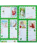 STICKERS ADESIVI POSTAL CARD NATALE (6PZ)